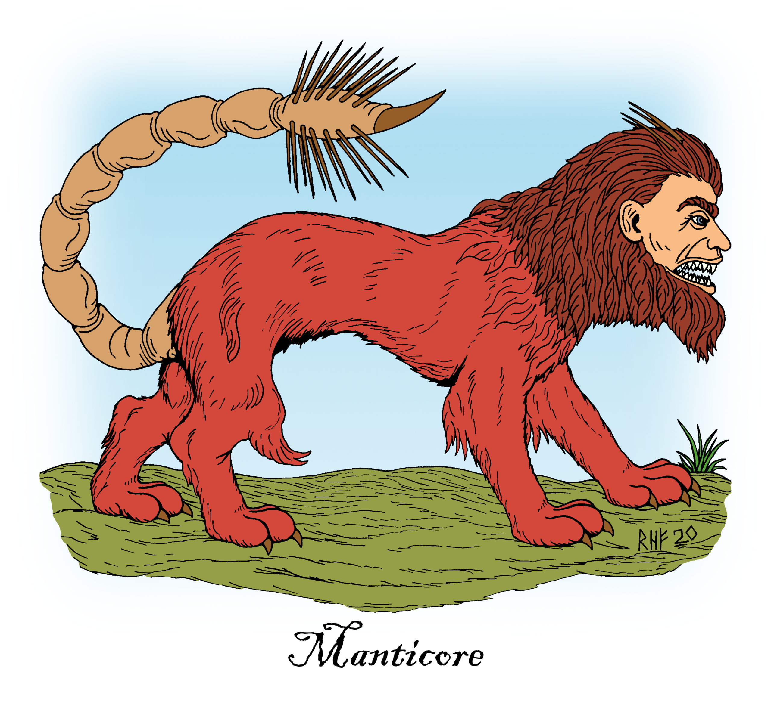 Manticore: Man-Eating Hybrid Beast of Legend and Art by Richard H. Fay 1